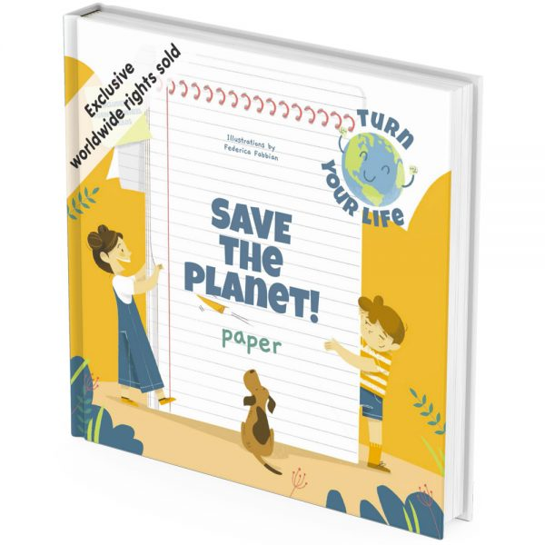 Eco friendly paper activity book cover