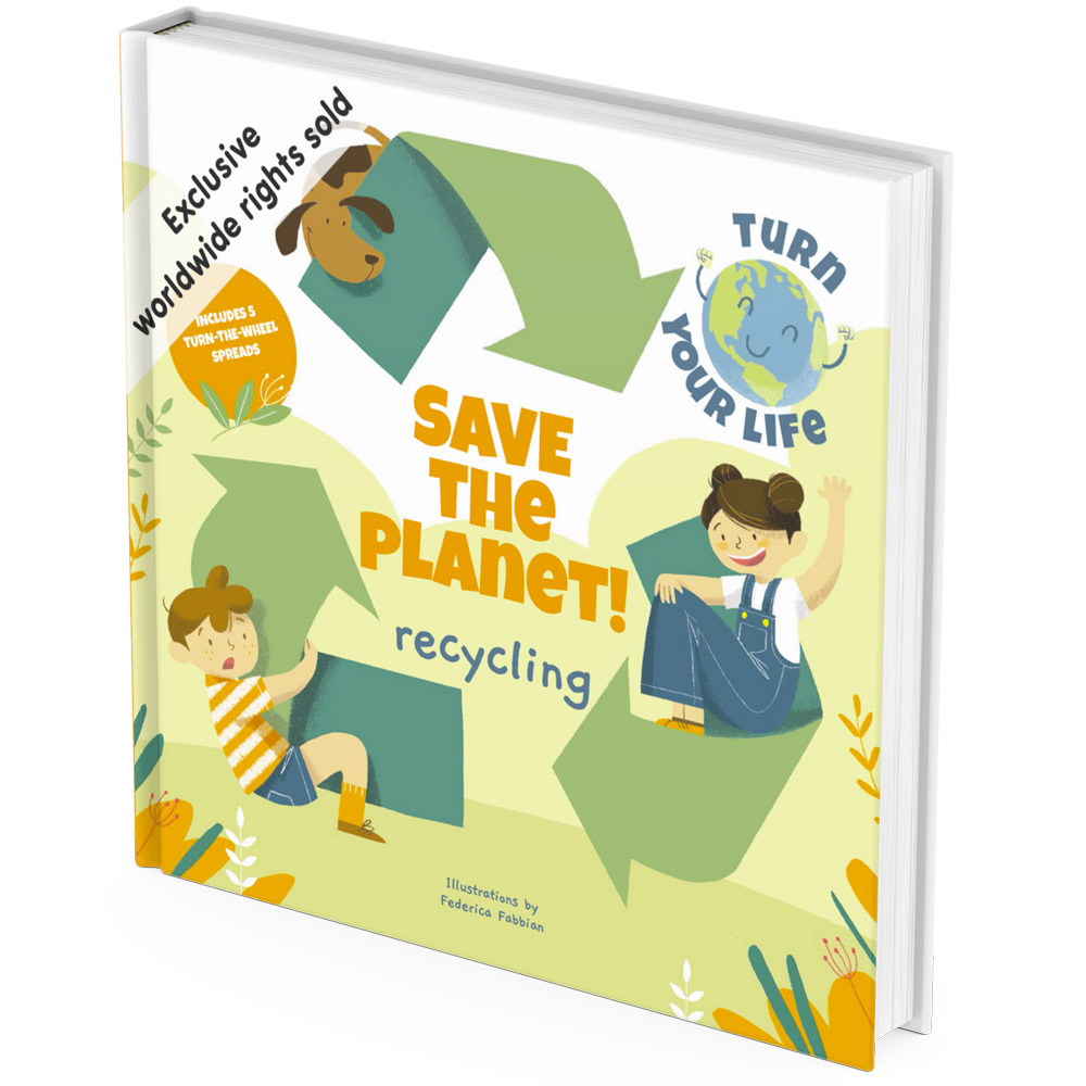 Eco friendly recycling activity book cover