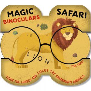 Animals board book - Magic binoculars Savannah - cover