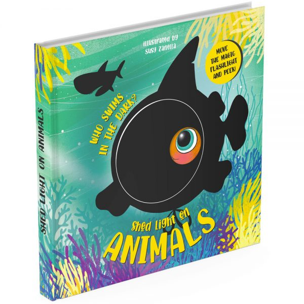 Animals magic torch board book cover