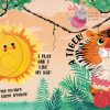 Animals magic torch board book spread tiger day