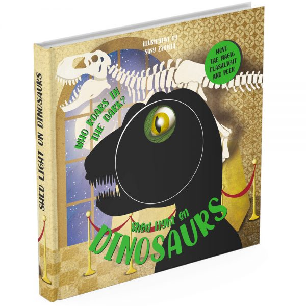 Dinosaurs magic torch board book cover