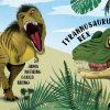 Dinosaurs magic torch board book spread T-rex