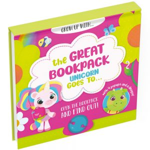 Education pop up book unicorn cover