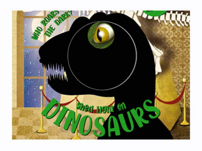 Dinosaurs magic torch board book - Shed light on