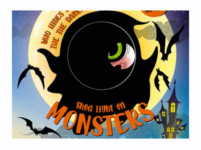 Monsters magic torch board book - Shed light on